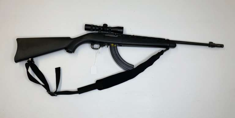Ruger 10/22 Auto .22LR Ruger Black Stock, with Clip and Simmons 4x28 Scope