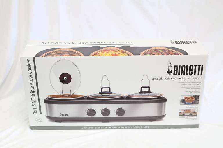 Bialetti Copper 3x1.5 Quart Non Stick Triple Slow Cooker