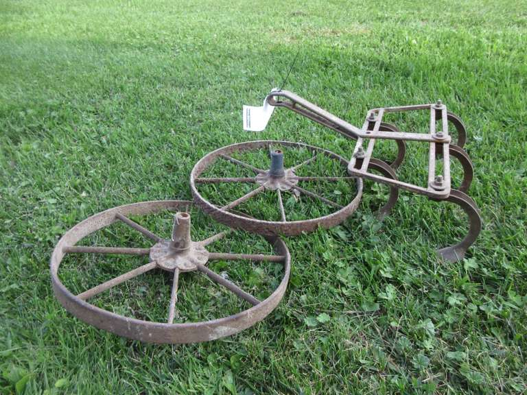 "Small Cultivator (17"" Wide), and (2) 15"" Diam. Wheels"