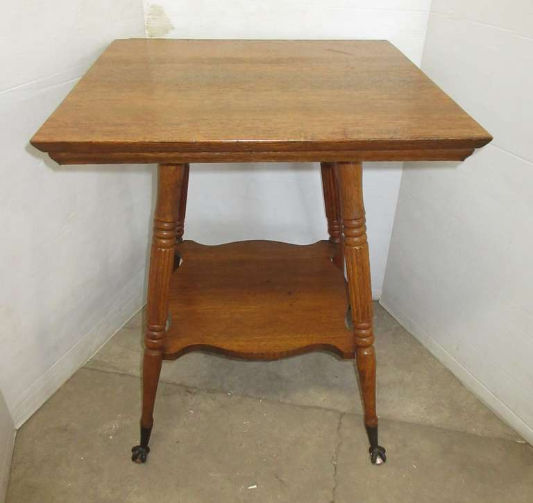 Large Side/Hall Table with Glass Claw Feet