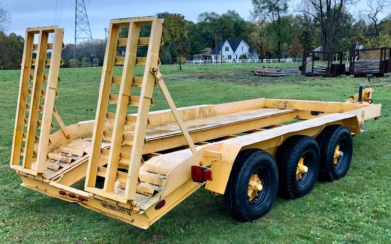 Tiger Line Dovetail Equipment Trailer, 15' Total Length, New Wiring and Taillights, Clean and Clear Title