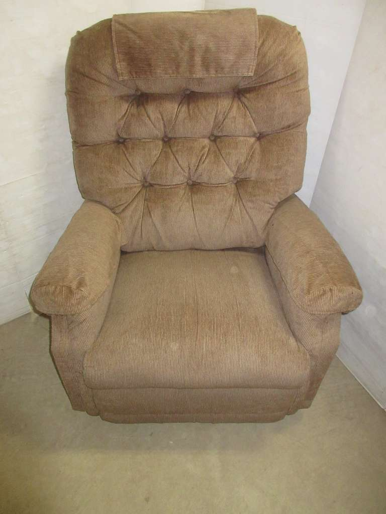 Wall Hugger Recliner Chair, Brown, Removable Back, Arm and Headrest Covers Included