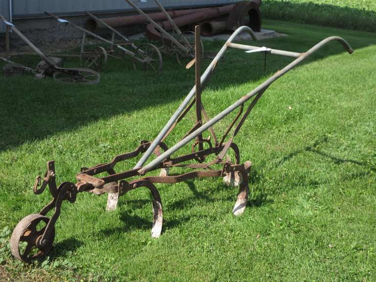 Antique Walking Cultivator, #366 with Custom Pipe Handles