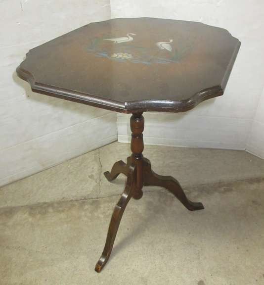 Older Three-Legged Flip Top End Table