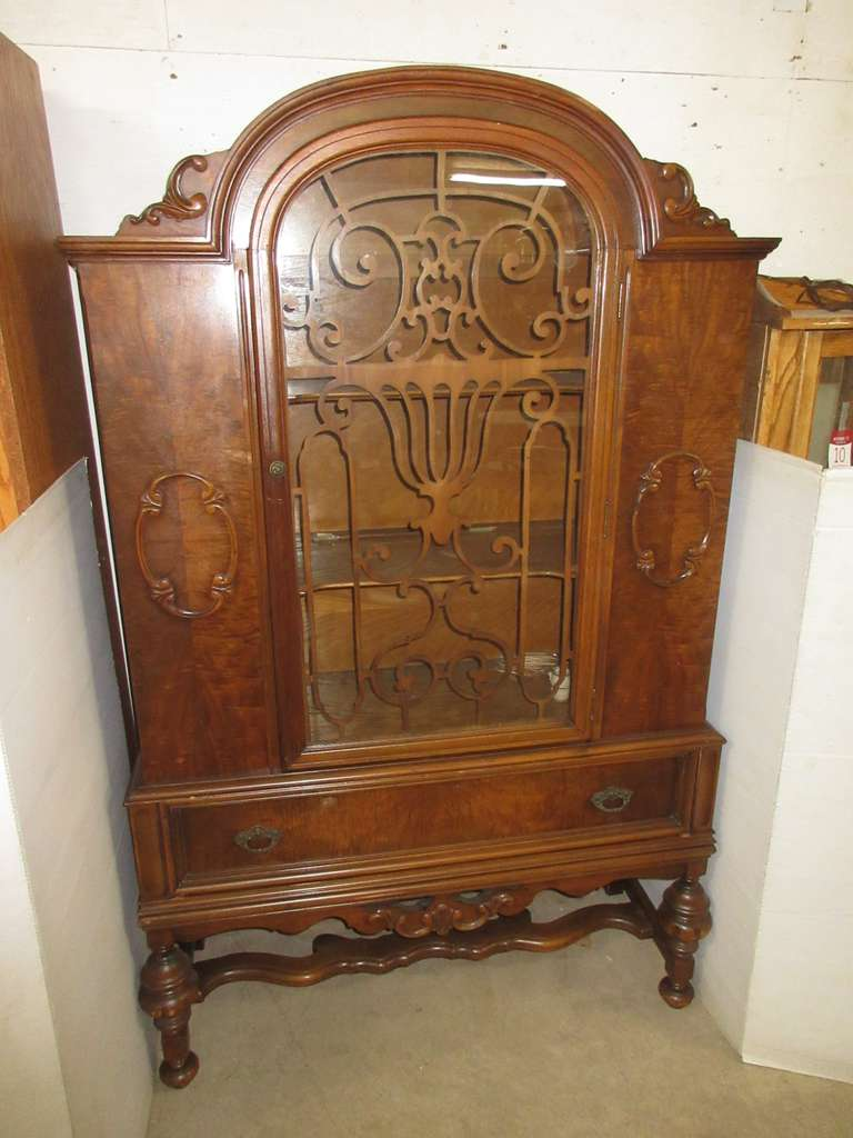 Antique Cabinet with Glass Door, Matches Lot Nos. 1 and 44
