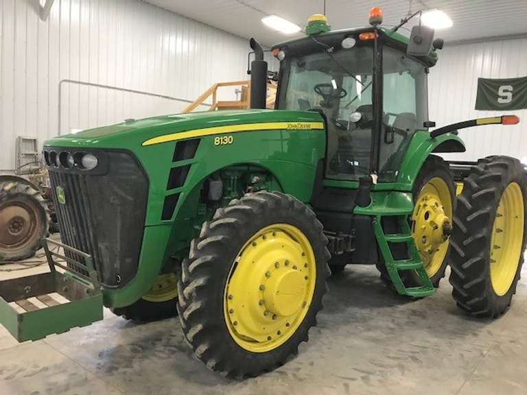2008 John Deere 8130 MFWD Tractor, (2415 Hours), 4-Outlets, 380 Rear Duals, 320 Front Singles, GPS Activated, 540 PTO, 60 GPM Pump, Pre-Def, Second Owner (Owned Since 2011), Rock Bucket NOT Included