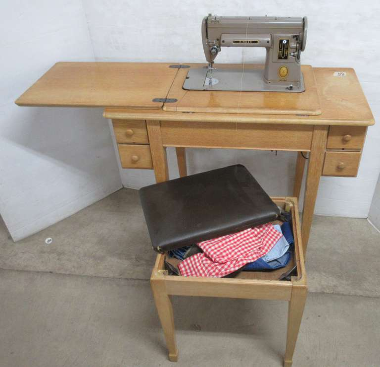 Singer Sewing Cabinet with Bench