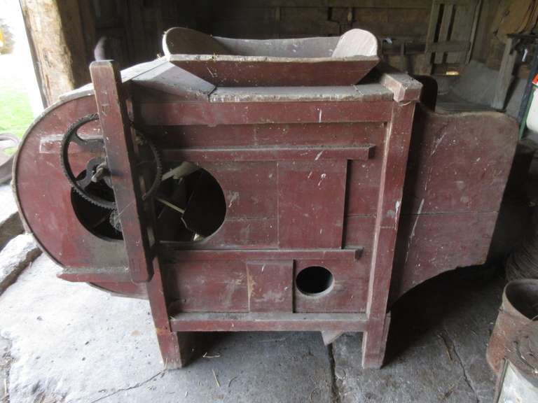 "Antique Fanning Mill, 65""L x 36""W x 46""H"