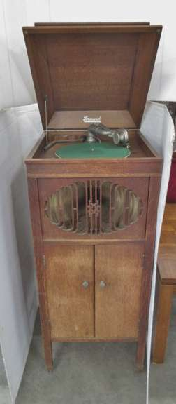 Brunswick Oak Record Player