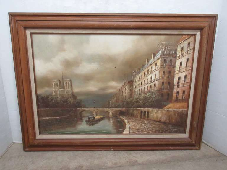 Framed Oil Painting on Canvas, Signed I. Costello