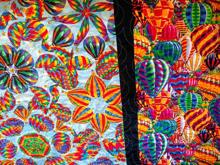 Handmade Hot Air Balloons Quilt