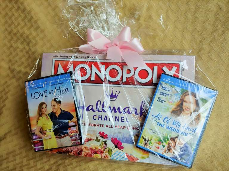(2) Hallmark Movie DVDs and Hallmark Monopoly Game