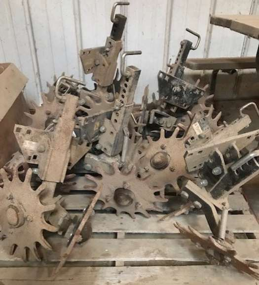 (12)-Martin Row Cleaners, 11-Units have Tandem Spike Wheels, 1-Unit Missing Spike Wheel, Working Condition