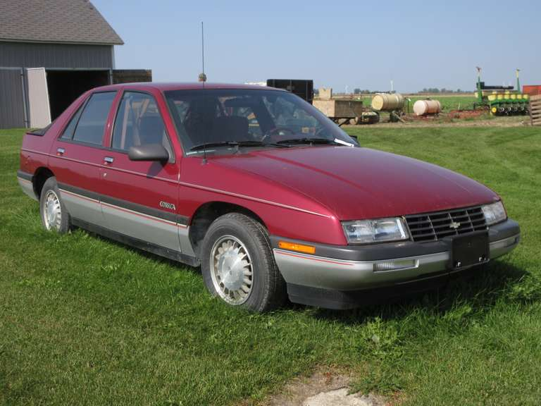 1989 Chevy 'Corsica' 4-Door Car, 4-Cylinder Auto, Motor Turns Over but Has Not Been Running, Only 32,511 Miles, Kept Inside, One Owner, Not Run in Approx. 5 Years, Rear Window Needs New Seal, Interior Nice for Age, VIN: 1G1LT641XKY192860