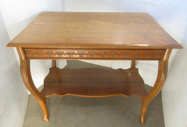 Antique Oak Accent Table