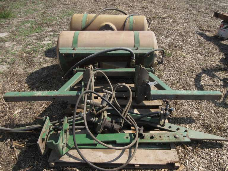 Pair of 100-Gallon Saddle Tanks and John Deere Frame, with Pump