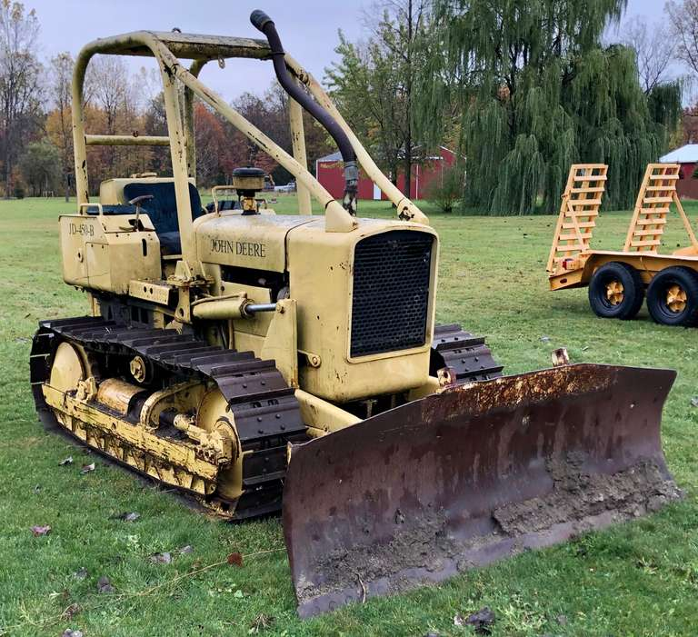 John Deere 450-B Dozer, Needs Steering Work, Runs Well