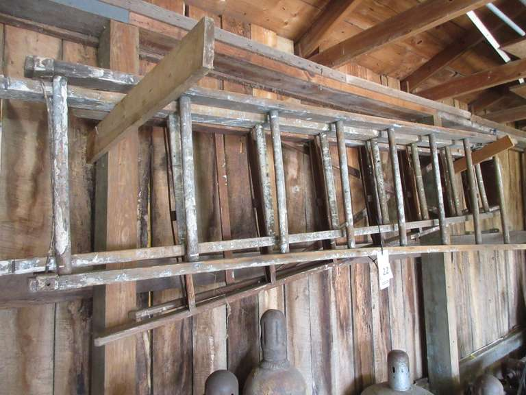 (2)-Old Wooden Ladders, 8' Step and 8' Extension