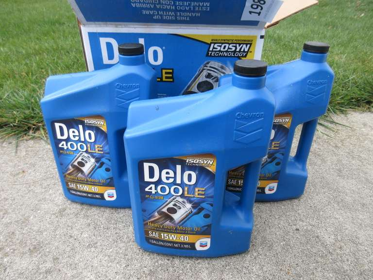 (2)-One Gallon Jugs of SAE 15W-40 Motor Oil.  The Picture Shows (3)-Jugs, But the Third Has Very Little In It.