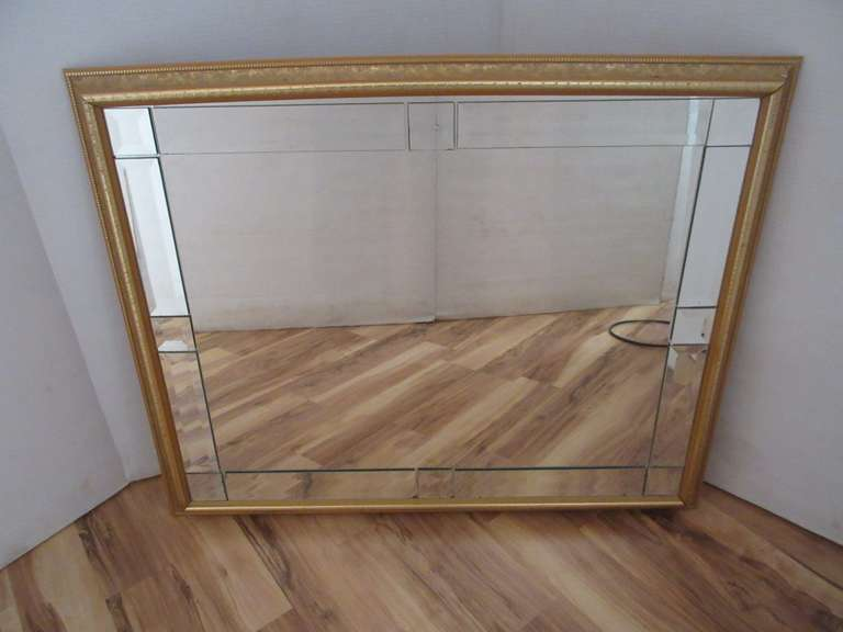 "Wall Mirror (36"" x 24""), Plastic Frame is Bowed on Top"
