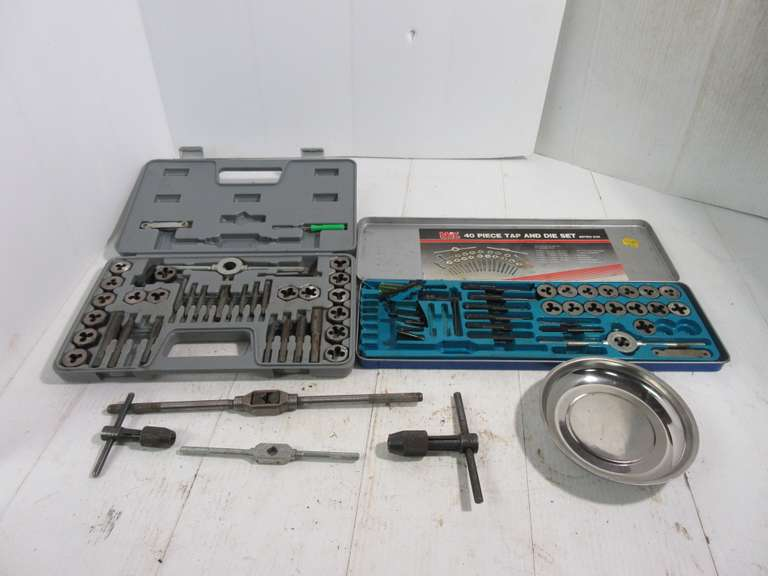 Tap and Die Sets, 40-Piece Pipe Combination Thread