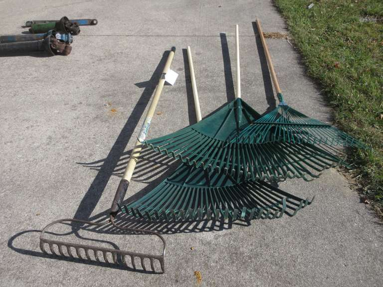 Assorted Rakes with Pole Pruner