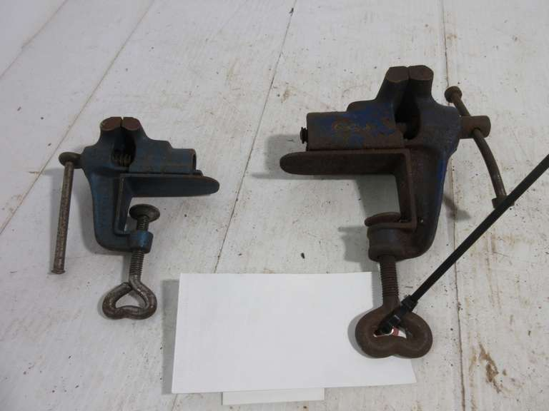 "(2)-Small Vises, 1 3/4"" and 2 1/2"" Jaws"