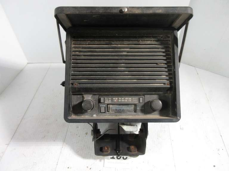 Old Radio in Mounting Case for Tractor