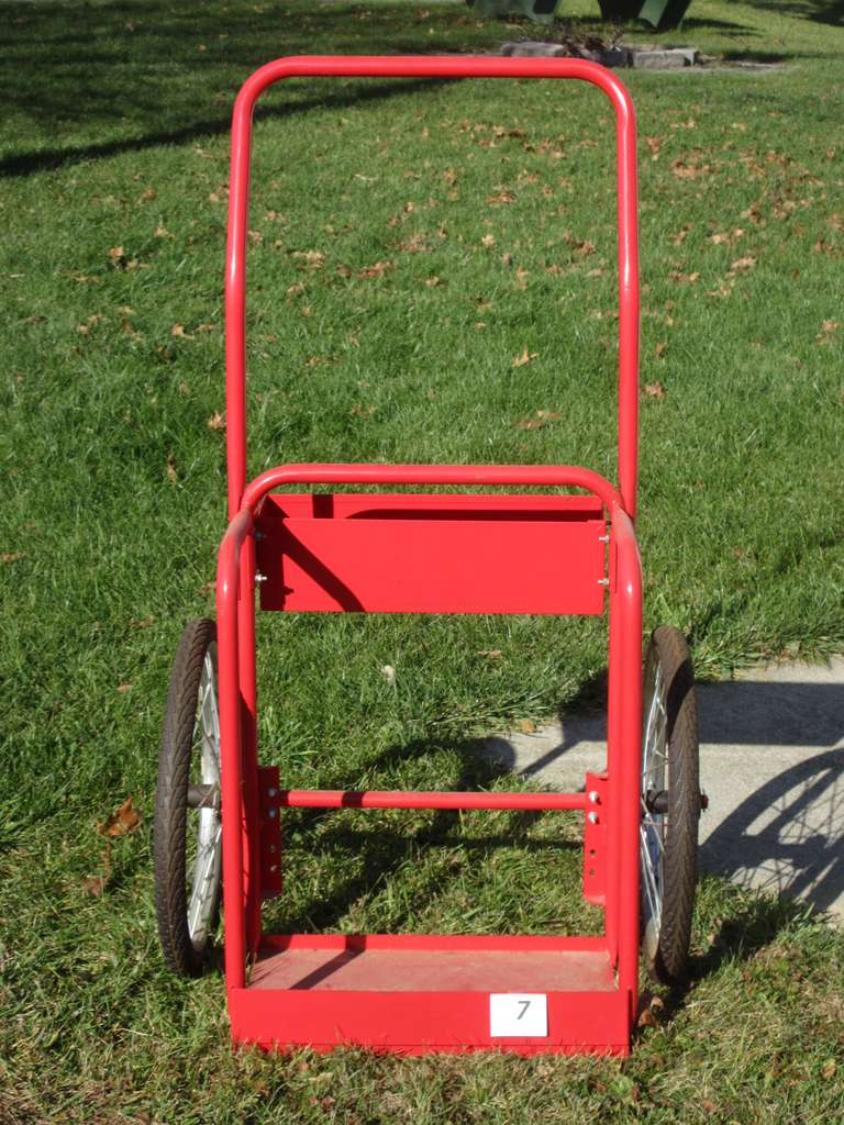 "Tank Dolly with Tool  Basket, Appears to be New with Little Use, 27"" Wide Wheel to Wheel, 4' High"