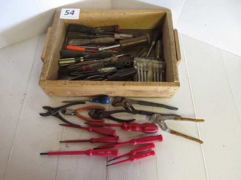 Tool Lot Including:  Pliers, Chisels, Screwdrivers, Etc.