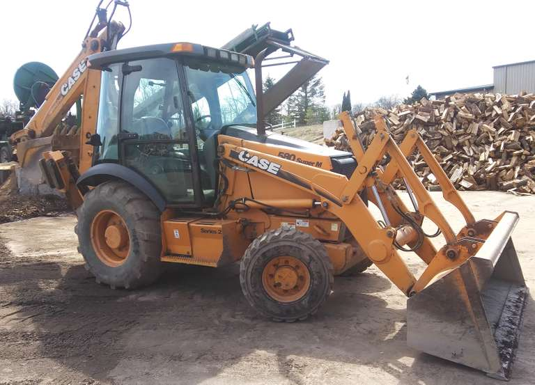 2009 Case 580 Super M 4x4 Series 2 Extenda-Hoe Backhoe, (3450 Hours), Has AC, Heat, Radio, Good Rubber, Used Daily, Runs Well