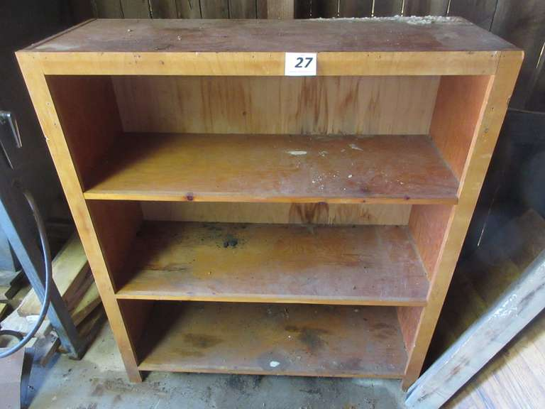 "Solid Wood Storage Shelf, 45"" Wide x 17"" Deep x 51"" High"