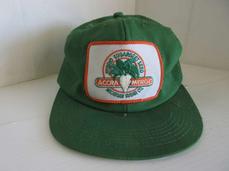 Accra Merge Hybrid Sugarbeet Seed Patch on Snapback Hat, Michigan Sugar Co.