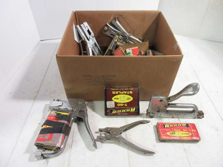 Assorted Staplers and Staple Set
