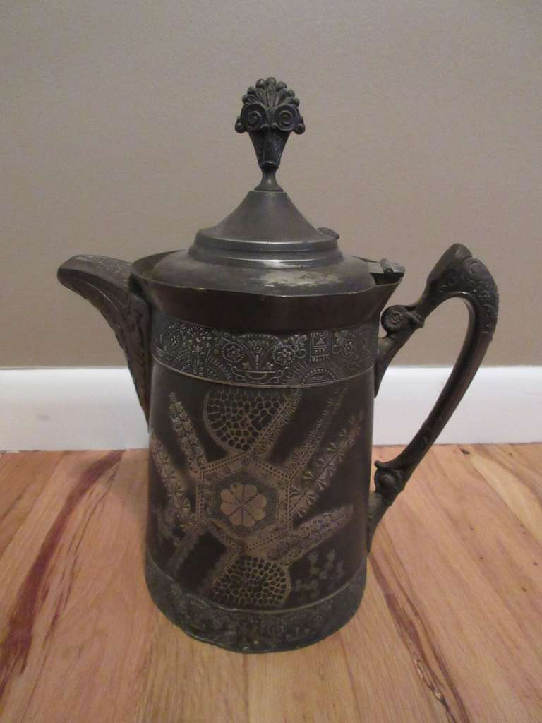 "Antique S.P. Coffee Pot, 13"" High"