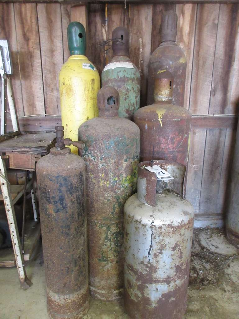 "(7)-Assorted Propane Tanks, Tallest is 60"", No Paperwork"