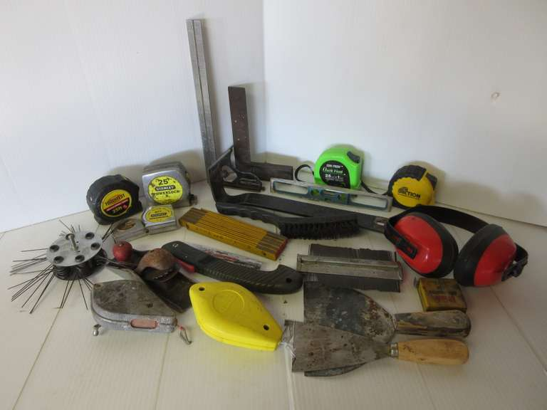 Tape Measures, Chalk Lines, Crowbar and  More