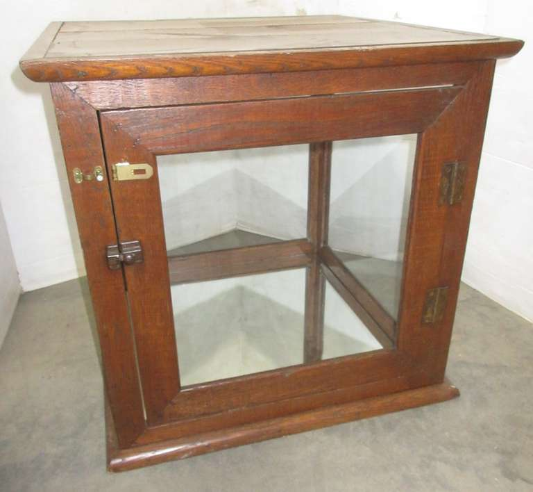 Two-Piece Display Cabinet, Wood with Glass