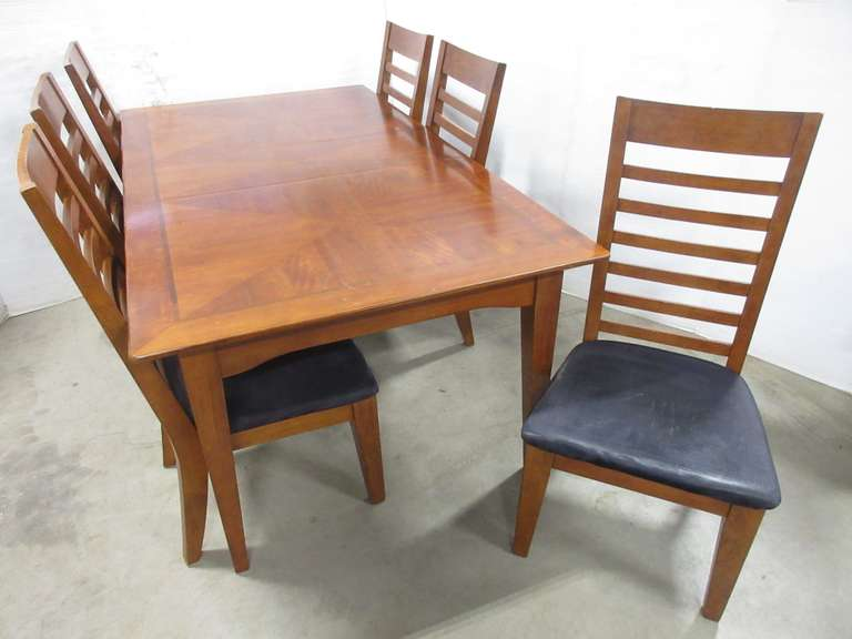 Seven-Piece Dining Set with Leaf