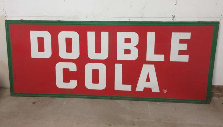 Old Metal Double Cola Single-Sided Sign