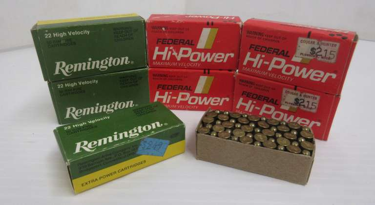 (72) Rounds of Federal Hi-Power 22 Shorts; (100) Rounds of Remington 22 Shorts; (30) Rounds of Hi-Velocity 22 Shorts