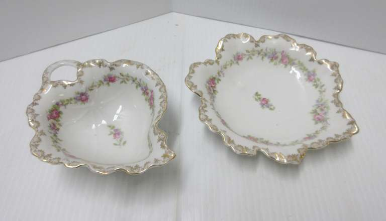 Victoria Leaf Shape Cup and Saucer, Made in Austria