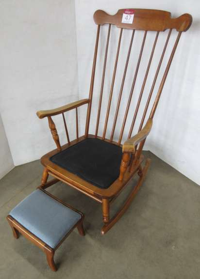 Antique Rocking Chair with Footstool
