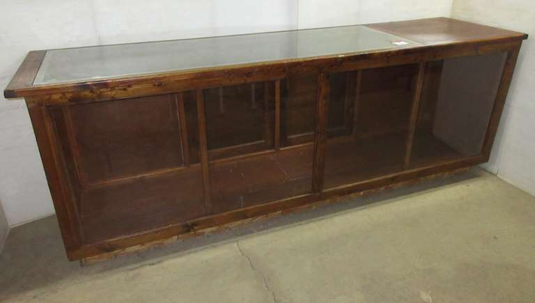 Antique Wood Frame and Glass Display Case