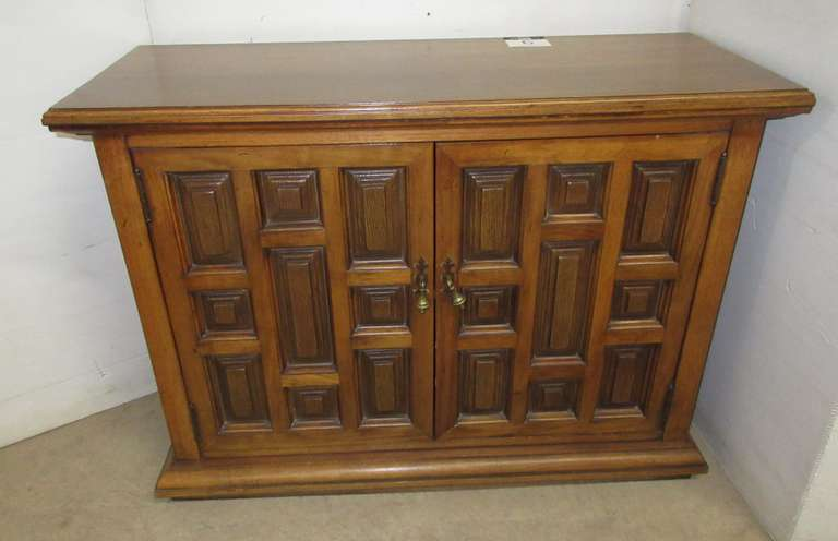 Two-Door Solid Wood Cabinet/Hutch