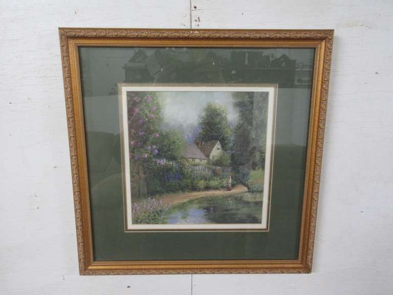 "Dwayne Warwick ""Path by the Lake"" Signed Fine Art Print, Matches Lot No. 46"
