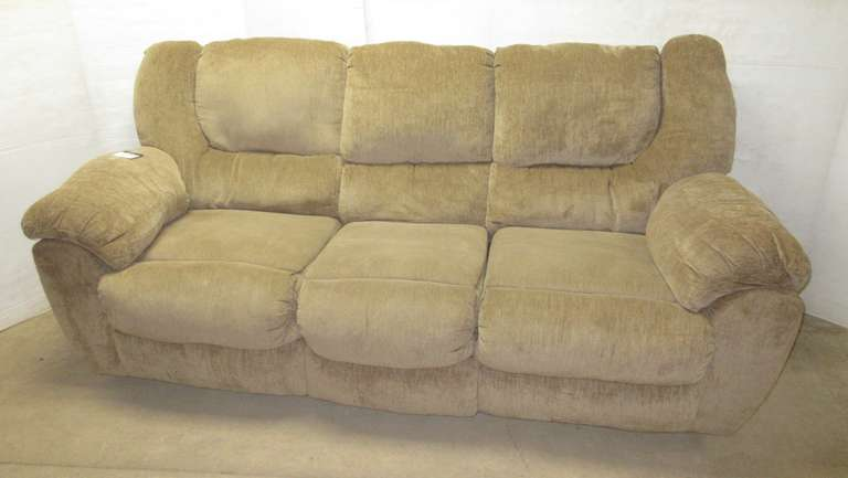 Brown Large Sized Living Room Reclining Sofa Couch, Backs are Removable for Transporting