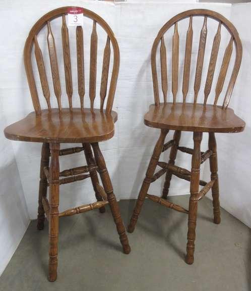 (2) Bar Stools with Backs