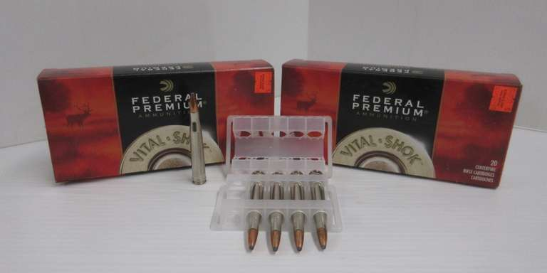 (2) Boxes of Federal Premium .300 H&H Mag, Include: 1- Box of 15-Count, 1- Box of 20-Count