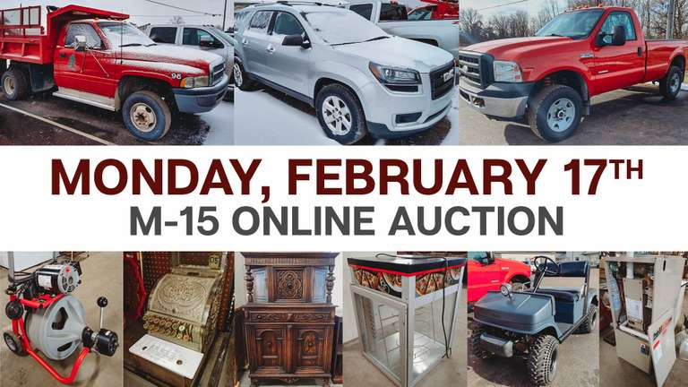 February 17th (Monday) M-15 Online Consignment
